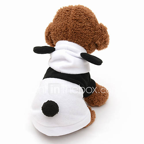 Cat Dog Costume Hoodie Dog Clothes Cute Cosplay Animal Gray Black/White
