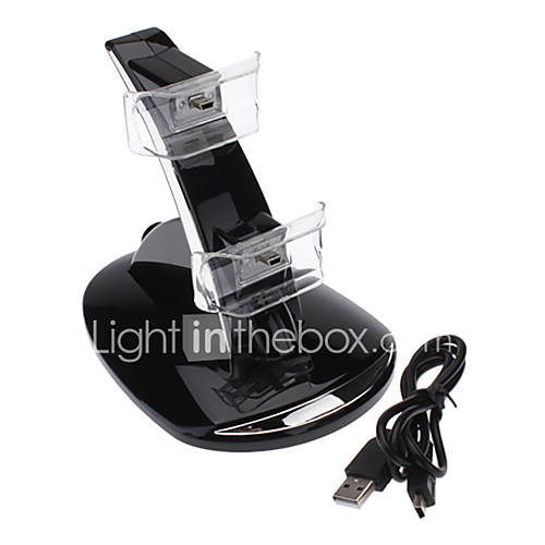 Dual GT USB de carga del soporte del muelle para el controlador de PS3 Descuento en Miniinthebox