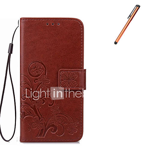 For Samsung Galaxy Note 5  Note 4  Note 3 Case Cover  Card Holder Wallet  with Stand  Flip Case Full Body Case Flower Hard PU Leather With Stylus