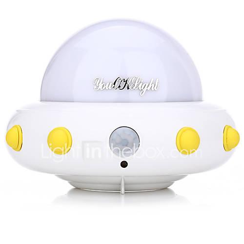 YouOKLight DC5V 1W Flying Saucer UFO Shaped LED Night Light Motion Sensor Lamp for Kids Nursery Bedroom