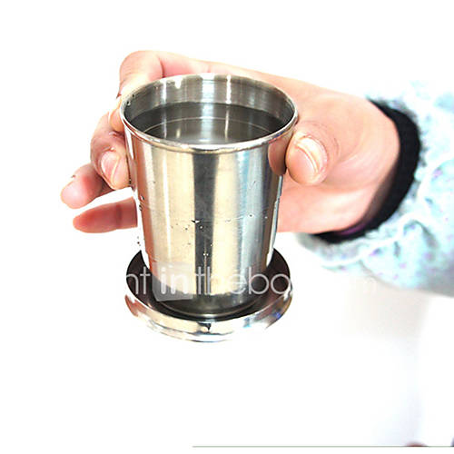 240ml Stainless Steel Portable Folding Telescopic Collapsible Outdoor Cup