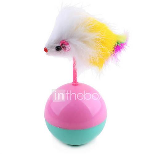 Cat Toy Pet Toys Ball Teaser Tumbler Mouse Random Color Plush