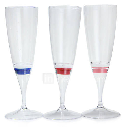 1PC COLORMIX LED Champagne Glass Cup Goblet LED Night Light for Party/Wedding/Party/KTV/Home/Bar