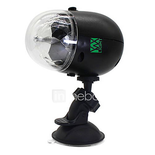 YWXLight LED 7-Pattern Colorful Car Disco DJ Effect Stage Light RGB Crystal Mini Rotating Magic Ball Light for Outdoor Dance Floor Live Show