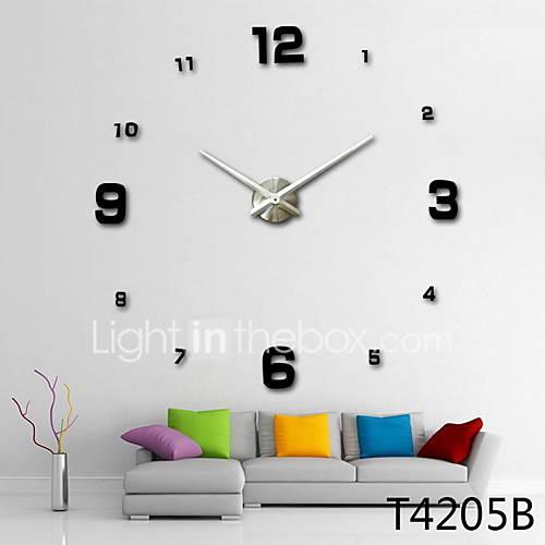 1PC New Home Decor Large Roman Mirror Fashion Diy Modern Quartz Clocks Living Room 3D Wall Clock Watch