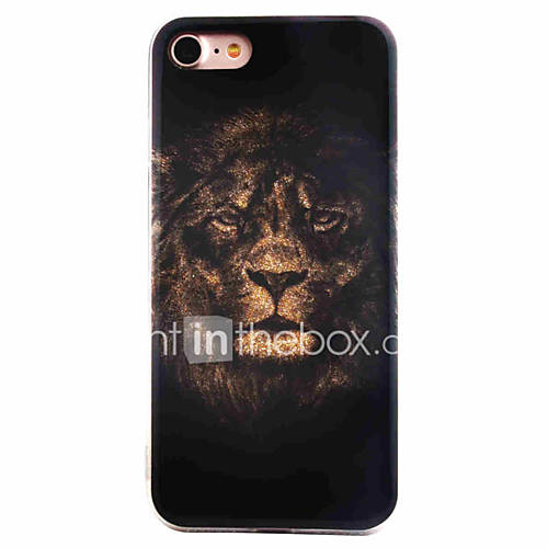 For iPhone 7 7Plus 6S 6Plus Case Cover Tiger Head Pattern Flashing Powder TPU  Acrylic Material IMD Process Phone Case