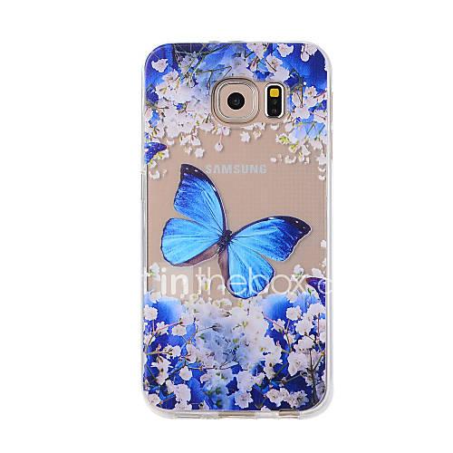 Pour Motif Coque Coque Arrière Coque Papillon Flexible PUT pour Samsung Note 5 Note 4 Note 3