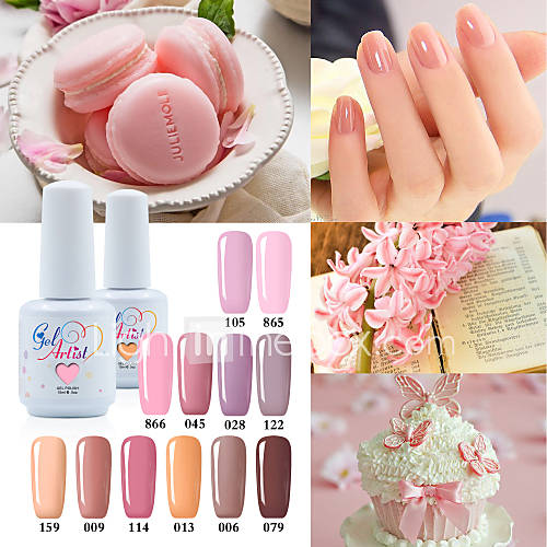 USA ONLY The Best Selling Uv Color Gel UVLED Lamp Nail Gel Polish Nude Color  Neutral Color Long Lasting Lacquerl