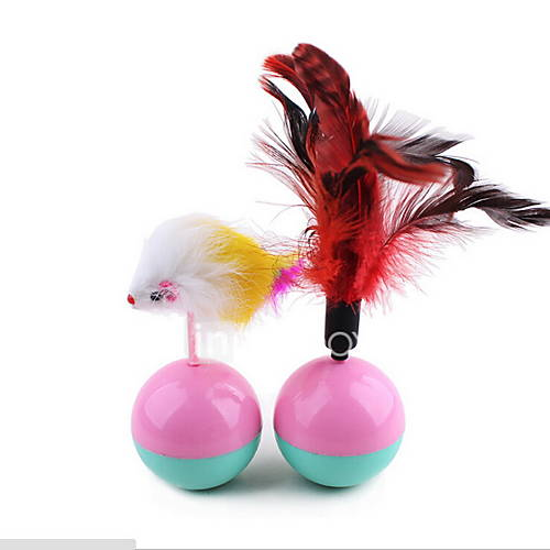 Cat Toy Pet Toys Interactive Feather Toy Tumbler Mouse Plastic Plush