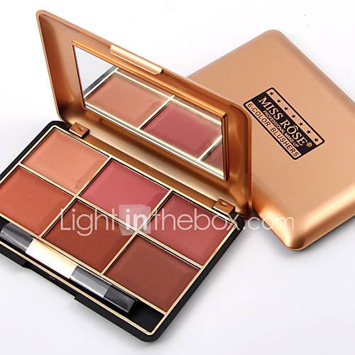 Professional Makeup Blusher Long Lasting 6 Color Minerals Powder Retro Face Base Blush Bronzers Contouring Make Up Palette