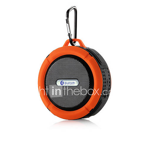 Portable Waterproof Bluetooth 3.0 Speaker  For Outdoor/Shower with Built-in Microphone  Suction Cup
