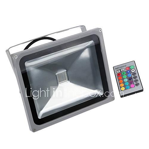 30w rgb reflector 16 tonos de color diferentes LED resistente al agua con función de memoriaamp; mando a distancia para al aire libre