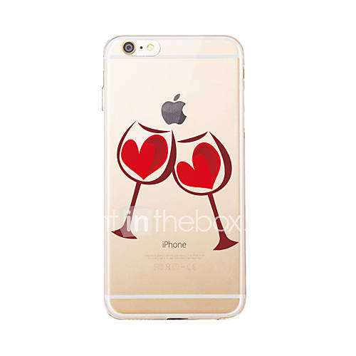 For IPhone 7 7Plus Translucent Pattern Case Back Cover Case Red Wine Glass Soft TPU for iPhone 6s 6 Plus iPhone 6s 6  iPhone 5s 5 5E 5C