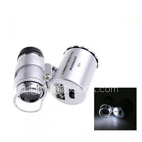 ZW-9882 60X Mini Plastic Optical Glass Lens Magnifier  (3LR1130)