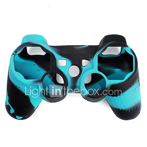 Funda Protectora de Silicona de Dos Colores para Mando PS3 (Azul y Negro) Descuento en Miniinthebox