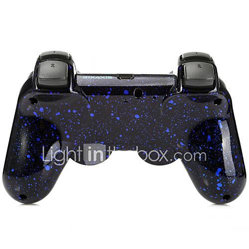 palanca de mando inalámbrico SIXAXIS DualShock3 bluetooth manchados recargable gamepad controlador para ps3 Miniinthebox por 12.73€