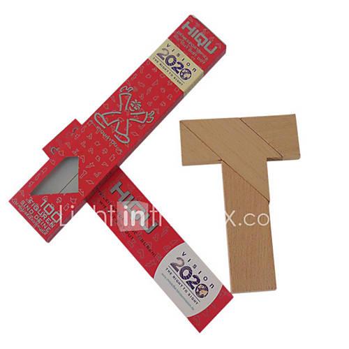 Jigsaw Puzzles Educational Toy Building Blocks DIY Toys Square / Triangle 1 Wood Khaki Novelty Toy
