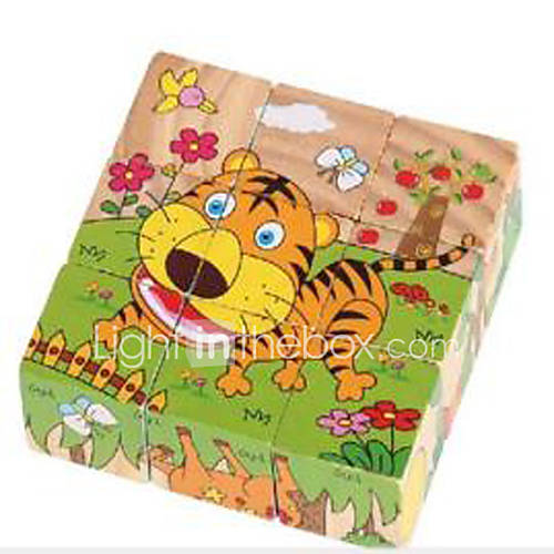 Jigsaw Puzzles 3D Puzzles / Educational Toy / Jigsaw Puzzle Building Blocks DIY Toys Square 1 Wood Rainbow Leisure Hobby