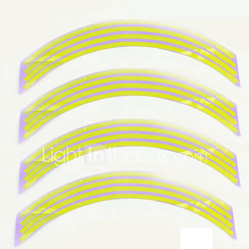 Fashion Reflective Rim Stripe Tape Bike Motorcycle Polyethylene Terephthalate Wheel Sticker Car Accessories