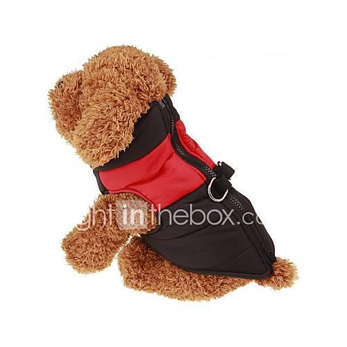 Perros Abrigos Chaleco Rojo Verde Azul Rosado Ropa para Perro Invierno Primavera/Otoño Un Color Mantiene abrigado Miniinthebox por 6.85€