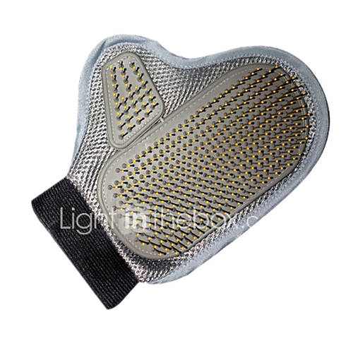 Cat Dog Cleaning Brush Baths Double-Sided Massage Silver