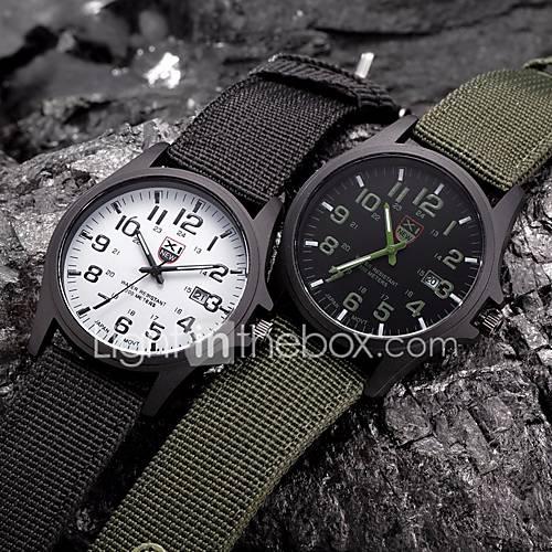 Hombre Mujer Pareja Unisex Reloj Deportivo Reloj Militar Reloj de Vestir Reloj de Moda Reloj de Pulsera Cuarzo Punk Colorido Esfera Grande Descuento en Miniinthebox