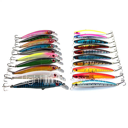 "20 pcs Hard Bait / Minnow / Lure kits / Fishing Lures Minnow Random Colors 13.5;11.2 g/3/8 oz. / 1/2 oz. Ounce mm/4-1/3"" inchHard"