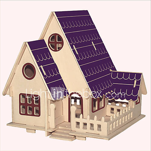 Jigsaw Puzzles Wooden Puzzles Building Blocks DIY Toys Forest Villa 1 Wood Ivory Model  Building Toy