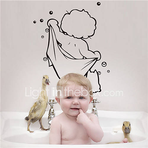 ZOOYOO Child Bath Removable Wall Stickers Window Sticker Art Decals Mural DIY Wallpaper for Room Decal