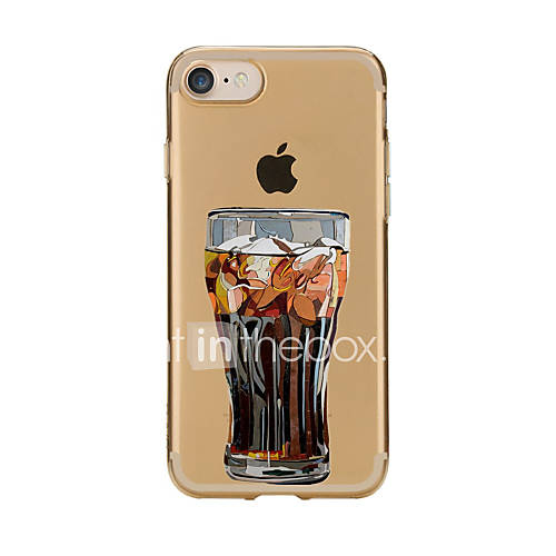 For Transparent Pattern Case Back Cover Case Cartoon Glass Soft TPU for IPhone 7 7Plus iPhone 6s 6 Plus iPhone 6s 6 iPhone 5s 5 5E 5C