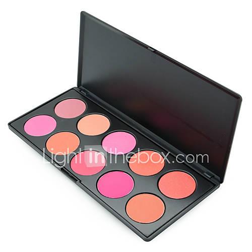 1Pcs 10 Colors Blush Palette Makeup Naked Blusher Bronzer Powder Palette Brand New Face Cosmetics Make Up Shimmer Matte
