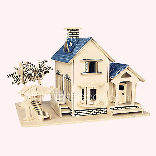 Jigsaw Puzzles Wooden Puzzles Building Blocks DIY Toys  Ocean Villa 1 Wood Ivory Model  Building Toy