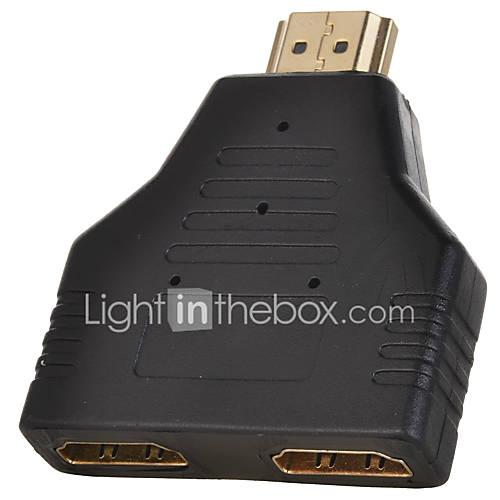 Producto neutro HDMI 1.4-HDMI 1.4 Chapado en Oro 1 a 2 Splitter 1080P 0,05 m (0.15Ft)