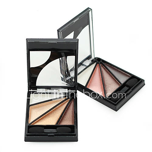 1Pcs Fashion 4 Colors Smoky Pigment Eye Shadow Brush Brand Cosmetic Naked Makeup Natural Shimmer Eyeshadow Palette With Brush
