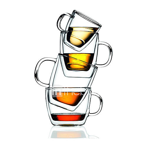 Transparent Classic Drinkware 375 ml Heat-Insulated Double Wall Glass Coffee Water Glass