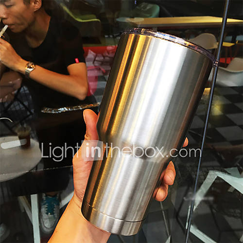 Stainless Steel Double Wall Tumbler Large Coffee Mug / Travel Mug for Hot and Cold Drink30 Oz