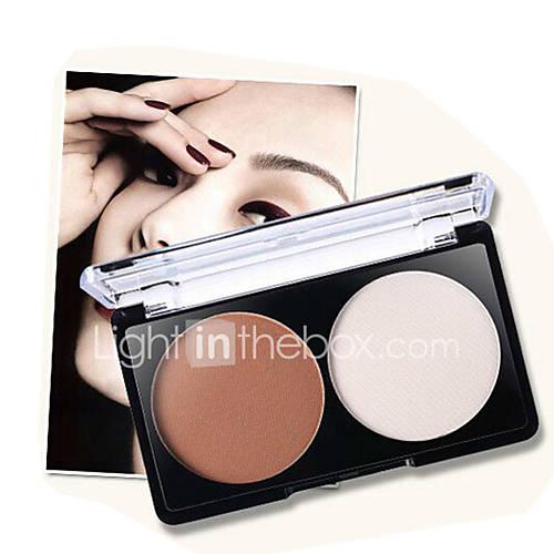1Pcs Brand Makeup 2 Color Bronzer Highlighter Powder Palette Trimming Powder Make Up Face Cosmetic Contour Pressed Powder