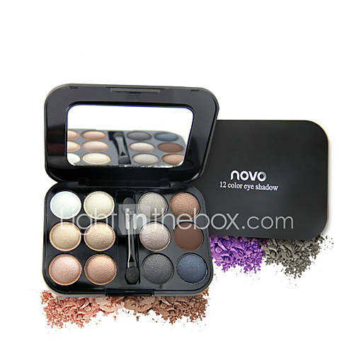 1Pcs 12 Colors Waterproof Matte  Shimmer Eye Shadow Set Makeup Eyeshadow Palette With Pigment