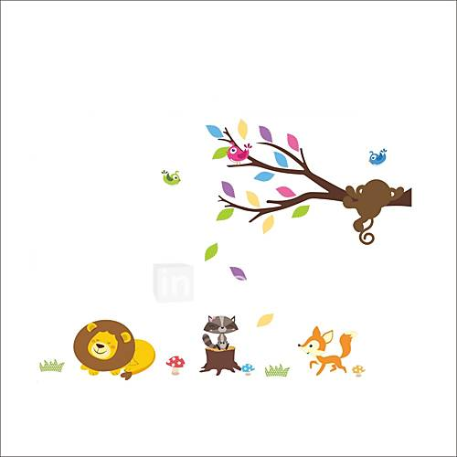 ZOOYOO Lovely Animals Removable Wall Stickers Window Sticker Art Decals Mural DIY Wallpaper for Room Decal