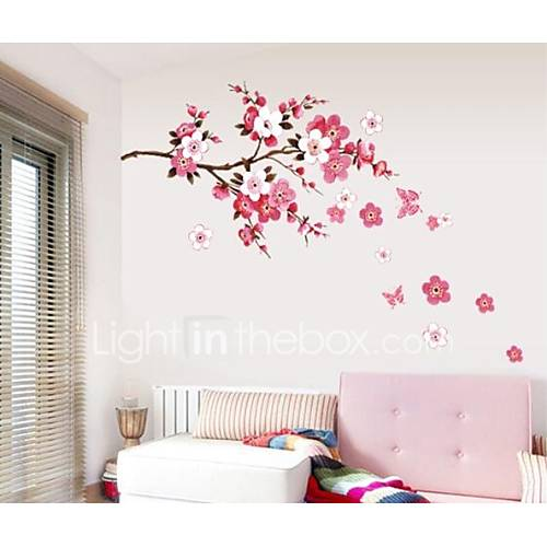 Decorative Wall Stickers - Plane Wall Stickers Romance / Fashion / Florals Living Room / Bedroom / Study Room / Office / Washable