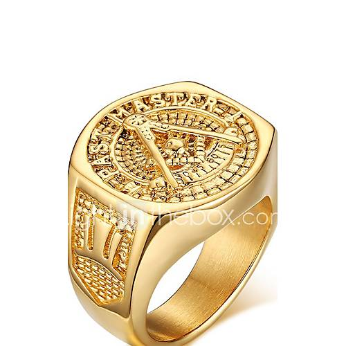 Men's Women's Statement Rings Love Personalized Costume Jewelry Gold Plated Jewelry Jewelry For Wedding Party Anniversary Birthday Gift