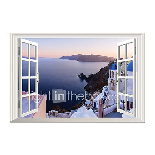 3D Wall Stickers Wall Decals Style Aegean Sea PVC Wall Stickers