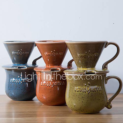 ml  Ceramic Coffee Maker Set  4 cups Drip Coffee Maker Reusable