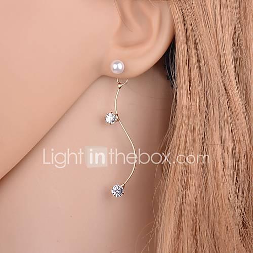 Pendientes cortos Cristal Perla Brillante La imitación de diamante Legierung Dorado Plata Joyas Diario Casual 1 par Miniinthebox por 1.95€