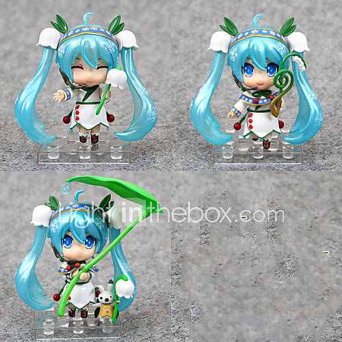 Anime Action Figures Inspired by Vocaloid Hatsune Miku PVC 10 CM Model Toys Doll Toy 1set