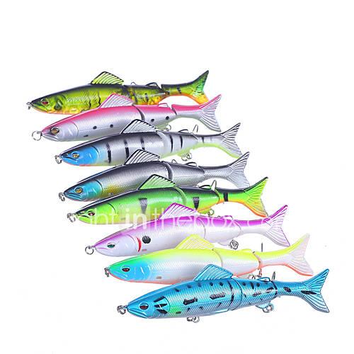 "8 pcs Hard Bait Minnow Fishing Lures Hard Bait Minnow Assorted Colors g/Ounce127 mm/5"" inchHard PlasticSea Fishing Bait Casting"