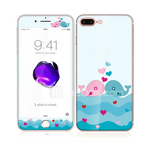 Screen Protector Apple for iPhone 7 Plus Tempered Glass 1 pc Front  Back Protector Pattern