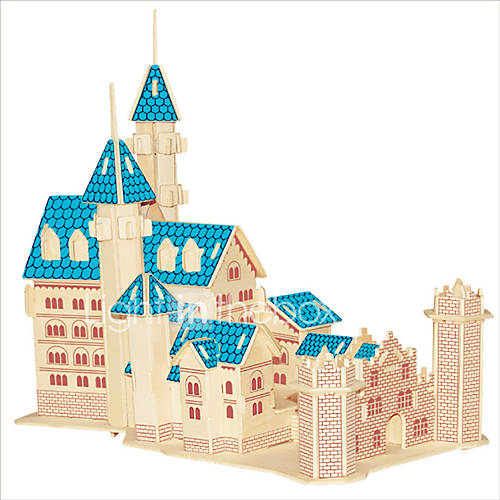 Jigsaw Puzzles Wooden Puzzles Building Blocks DIY Toys New Dream Castle 1 Wood Ivory Model  Building Toy