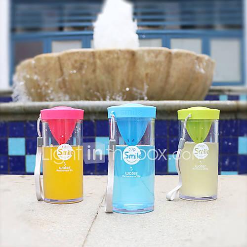 Transparent Drinkware 350 ml Squeezing Plastic Tea Juice Tea Cup