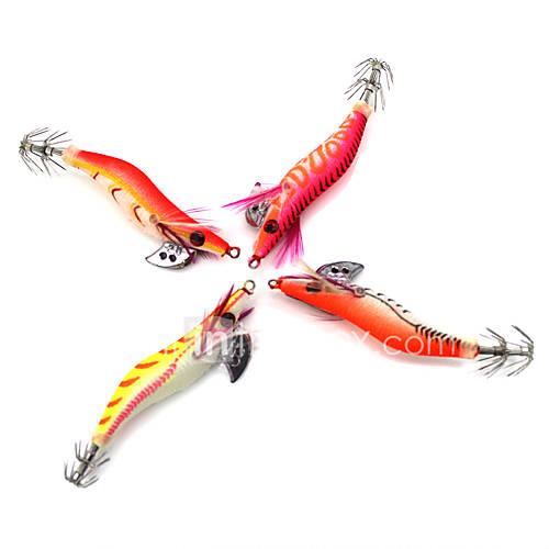 """4 pcs Hard Bait Others Fishing Lures Hard Bait Vibration/VIB Craws / Shrimp Assorted Colors g/Ounce80 mm/3-1/4"""" inchWoodSea Fishing"""